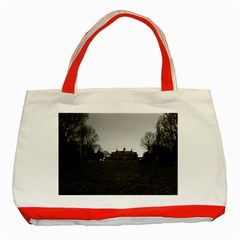 Vintage Usa Mount Vernon George Washington House 1970 Red Tote Bag by Vintagephotos