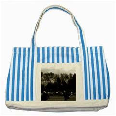 Vintage Usa Washington Park 1970 Blue Striped Tote Bag by Vintagephotos