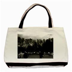 Vintage Usa Washington Park 1970 Twin Sided Black Tote Bag by Vintagephotos