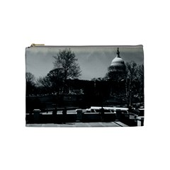 Vintage Usa Washington The Capitol 1970 Medium Makeup Purse by Vintagephotos