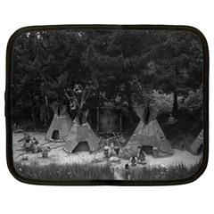Vintage Usa California Disneyland Indian Camp 1970 13  Netbook Case by Vintagephotos