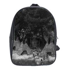 Vintage Usa California Disneyland Indian Camp 1970 Large School Backpack by Vintagephotos