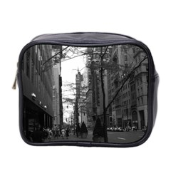 Vintage Usa Washington Street 1970 Twin Sided Cosmetic Case by Vintagephotos