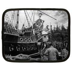 Vintage Usa California Disneyland Sailing Boat 1970 12  Netbook Case by Vintagephotos