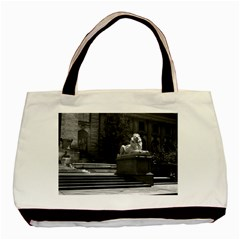 Vintage Usa New York City Public Library 1970 Black Tote Bag by Vintagephotos