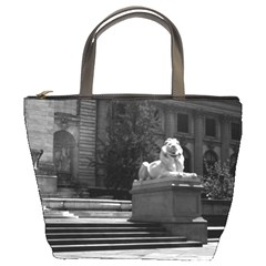 Vintage Usa New York City Public Library 1970 Bucket Handbag by Vintagephotos