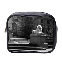 Vintage Usa New York City Public Library 1970 Twin Sided Cosmetic Case
