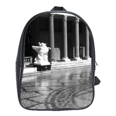 Vintage Usa California San Simeon Neptune Pool 1970 Large School Backpack by Vintagephotos