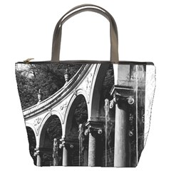 Vintage France Palace Of Versailles Colonnade Grove Bucket Handbag by Vintagephotos