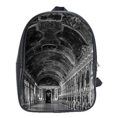 Vintage France palace of versailles mirrors galery 1970 School Bag (XL) by Vintagephotos