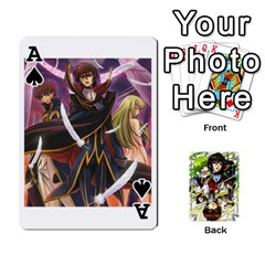 Ace Code Geass By David    Playing Cards 54 Designs   6xpb4uvp058l   Www Artscow Com Front - SpadeA