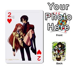 Code Geass By David    Playing Cards 54 Designs   6xpb4uvp058l   Www Artscow Com Front - Heart2