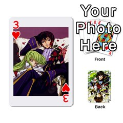 Code Geass By David    Playing Cards 54 Designs   6xpb4uvp058l   Www Artscow Com Front - Heart3