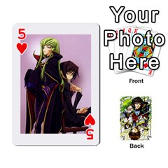 Code Geass By David    Playing Cards 54 Designs   6xpb4uvp058l   Www Artscow Com Front - Heart5