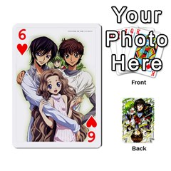 Code Geass By David    Playing Cards 54 Designs   6xpb4uvp058l   Www Artscow Com Front - Heart6