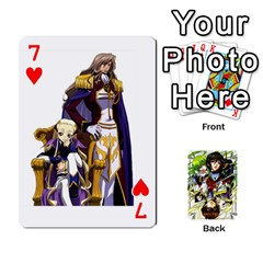 Code Geass By David    Playing Cards 54 Designs   6xpb4uvp058l   Www Artscow Com Front - Heart7