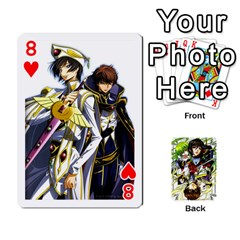 Code Geass By David    Playing Cards 54 Designs   6xpb4uvp058l   Www Artscow Com Front - Heart8