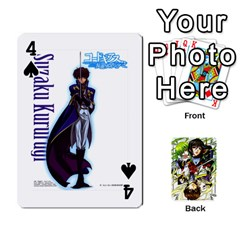 Code Geass By David    Playing Cards 54 Designs   6xpb4uvp058l   Www Artscow Com Front - Spade4