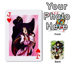 Jack Code Geass By David    Playing Cards 54 Designs   6xpb4uvp058l   Www Artscow Com Front - HeartJ