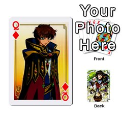 Queen Code Geass By David    Playing Cards 54 Designs   6xpb4uvp058l   Www Artscow Com Front - DiamondQ