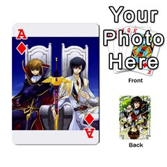 Ace Code Geass By David    Playing Cards 54 Designs   6xpb4uvp058l   Www Artscow Com Front - DiamondA