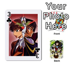 Code Geass By David    Playing Cards 54 Designs   6xpb4uvp058l   Www Artscow Com Front - Club3