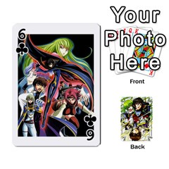 Code Geass By David    Playing Cards 54 Designs   6xpb4uvp058l   Www Artscow Com Front - Club6