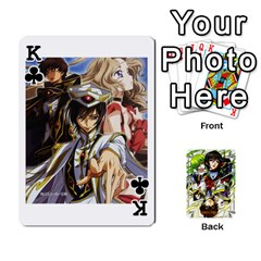 King Code Geass By David    Playing Cards 54 Designs   6xpb4uvp058l   Www Artscow Com Front - ClubK