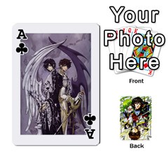 Ace Code Geass By David    Playing Cards 54 Designs   6xpb4uvp058l   Www Artscow Com Front - ClubA