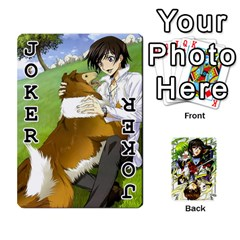 Code Geass By David    Playing Cards 54 Designs   6xpb4uvp058l   Www Artscow Com Front - Joker1