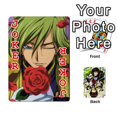 Code Geass By David    Playing Cards 54 Designs   6xpb4uvp058l   Www Artscow Com Front - Joker2