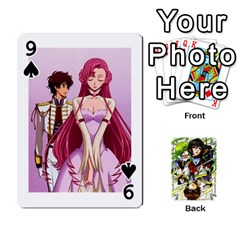 Code Geass By David    Playing Cards 54 Designs   6xpb4uvp058l   Www Artscow Com Front - Spade9
