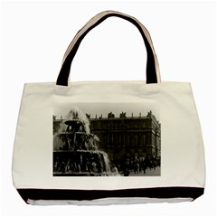Vintage France Palace Of Versailles Pyramid Fountain Black Tote Bag by Vintagephotos