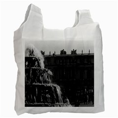 Vintage France Palace Of Versailles Pyramid Fountain Twin Sided Reusable Shopping Bag by Vintagephotos
