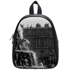 Vintage France Palace Of Versailles Pyramid Fountain Small School Backpack by Vintagephotos