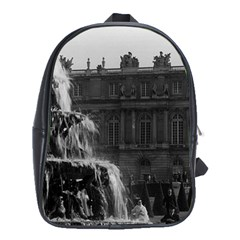 Vintage France palace of Versailles Pyramid fountain School Bag (XL)