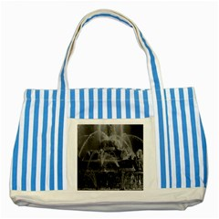 Vintage France Palace Of Versailles Latona Fountain Blue Striped Tote Bag by Vintagephotos