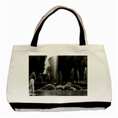 Vintage France Palace Of Versailles Neptune Fountains Twin Sided Black Tote Bag by Vintagephotos