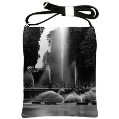 Vintage France Palace Of Versailles Neptune Fountains Cross Shoulder Sling Bag by Vintagephotos