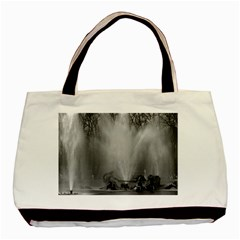Vintage France Palace Of Versailles Apollo Fountain Twin Sided Black Tote Bag