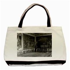 Vintage France Palace Of Versailles Stade Dining Room Black Tote Bag by Vintagephotos