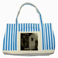 Vintage France Palace Versailles Louis Xv Bed Chamber Blue Striped Tote Bag