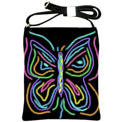 Abstract Butterfly Shoulder Bag Cross Shoulder Sling Bag by paintedpurses