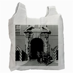 Vintage Principality Of Monaco Palace Gate And Guard Twin Sided Reusable Shopping Bag
