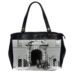 Vintage Principality Of Monaco Palace Gate And Guard Twin Sided Oversized Handbag by Vintagephotos
