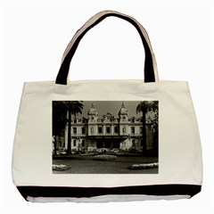 Vintage Principality Of Monaco Monte Carlo Casino Black Tote Bag by Vintagephotos