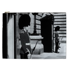 Vintage Uk England London Sentry At Buckingham Palace Cosmetic Bag (xxl)