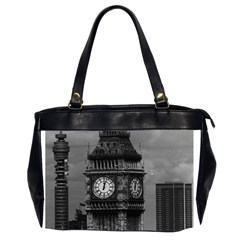 Vintage Uk England London The Post Office Tower Big Ben Twin Sided Oversized Handbag by Vintagephotos