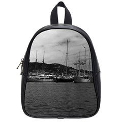 Vintage Principality Of Monaco The Port Of Monaco 1970 Small School Backpack by Vintagephotos