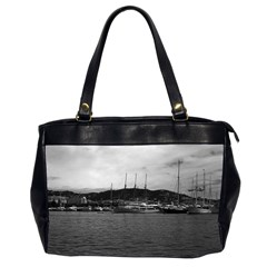 Vintage Principality Of Monaco The Port Of Monaco 1970 Twin Sided Oversized Handbag by Vintagephotos